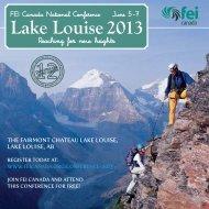 Lake Louise 2013 - FEI Canada