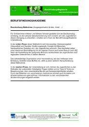 berufsfindungsakademie - Steirische Volkswirtschaftliche Gesellschaft