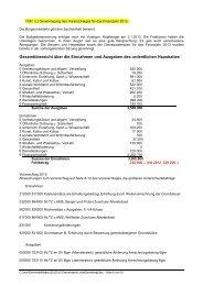 Gesamtübersicht über die Einnahmen und Ausgaben des ...