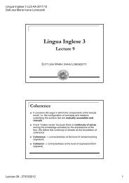 Lingua Inglese 3 LLS - LECTURE 9 (27/03/2012) (pdf, it, 98 KB, 4/11 ...