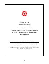 1 railway recruitment cell chief project manager(conv.)'s office ... - Main