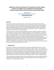 Application-of-Economic-Analysis for-Transportation-Decision-making