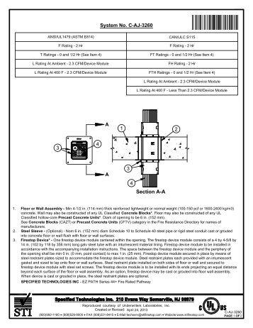 C-AJ-3260 - STI - Specified Technologies Inc