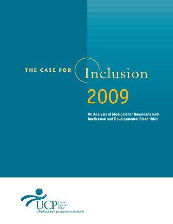 A Case for Inclusion 2009 - Ohio Developmental DisABILITIES Council