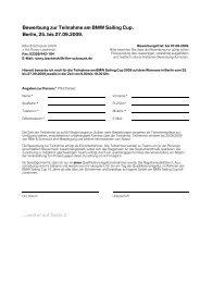 Bewerbung zur Teilnahme am BMW Sailing Cup ... - Riller & Schnauck