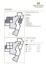 FLOORPLANS - The Precise Hotel Collection