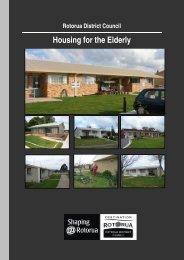 Pensioner Housing Information Brochure - Rotorua District Council