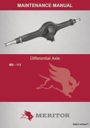 MAINTENANCE MANUAL - Meritor