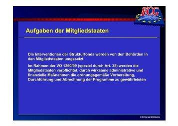 Aufgaben der Mitgliedstaaten - ECG GmbH Berlin
