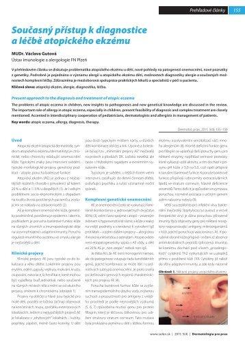 Současný přístup k diagnostice a léčbě atopického ekzému - Solen