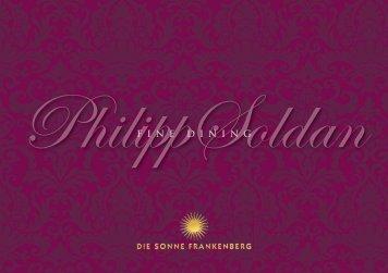Fine Dining in Philipp Soldan Gourmet Restaurant - Hotel Die ...