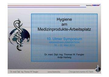 Hygiene am Medizinprodukte-Arbeitsplatz