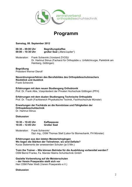 Programm - ZVOS