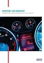 BDO Motor 150 Report 2012