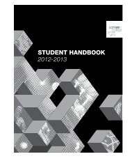 STUDENT HANDBOOK 2012-2013 - Cornish College of the Arts