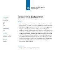 Investeren in Participeren - Onderzoeksrapporten Werk & Inkomen