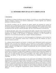 CHAPITRE 3 LA MÉMOIRE PRINCIPALE D'UN ... - UQAC