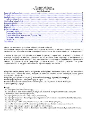 PYGPS4301 manual pl - Peiying