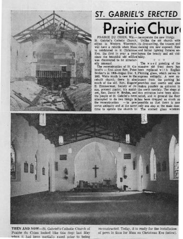 ST. GABRIEL1S ERECTED -Prairie Chun - Prairie Catholic School