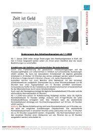 Arbeitszeitgesetz - Siart und Team Treuhand GmbH