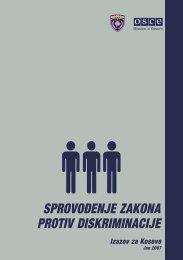 Primena zakona protiv diskriminacije , izazov za Kosovo , juni 2007
