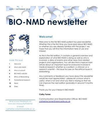 BIO-NMD newsletter