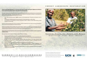 Forest landscape restoration in East Africa - Tanzania Development ...