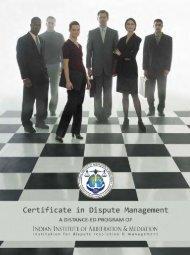 Certificate in Dispute Management (Distance-Ed Program) - IIAM