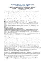 Décret no 2011-828 du 11 juillet 2011 portant diverses dispositions ...