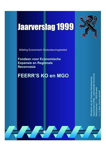 Jaarverslag 1999 - Agentschap Ondernemen