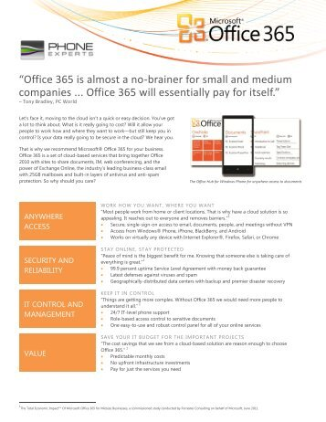 Office 365 Small Business - Customer Leave-Behind
