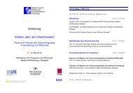 Recht und Technik des Cloud Computing in Verwaltung - EMR