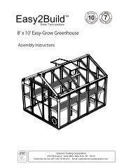 Easy2BuildTM - International Greenhouse Company