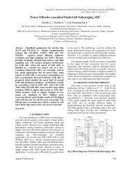 Power Effective cascaded Flash-SAR Subranging ADC - Ijcns.com