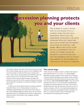 Succession planning protects you and your clients - The Law ...