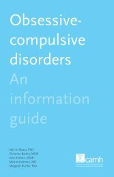 Obsessive-compulsive disorders: An information guide - CAMH ...