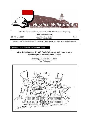 Bulletin 3 - Offiziersgesellschaft Stadt Solothurn & Umgebung