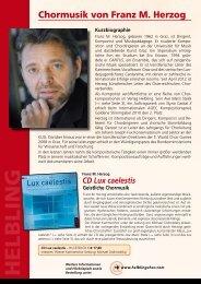 Chormusik von Franz M. Herzog - Helbling Verlag