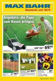 Angebote, die Papa zum Rasen bringen. - Max Bahr