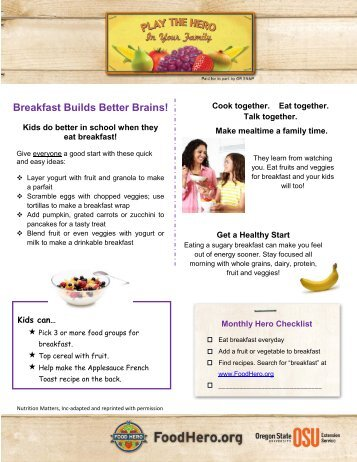 Breakfast Builds Better Brains! - Food Hero