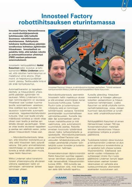 2/2006 Täydennyskoulutuksen Häme kiinnostaa - Kehittämiskeskus ...