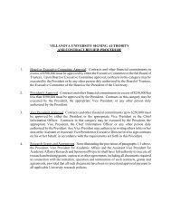 VILLANOVA UNIVERSITY SIGNING AUTHORITY AND CONTRACT ...