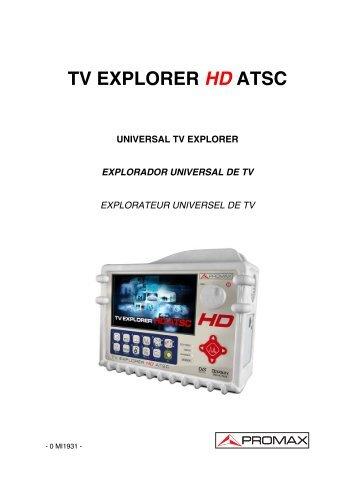 TV Explorer HD ATSC manual - Promax