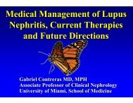 Medical Management of Lupus Nephritis, Current Therapies and ...