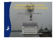 Information about HELCOM's role in priority area 4