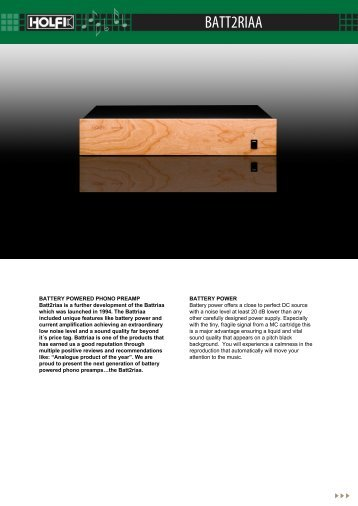 Holfi - For Musicians & Music Lovers - BATT2RIAA (PDF-print)