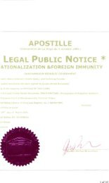 LEGAL PUBLIC NOTICE * - National Republic Registry