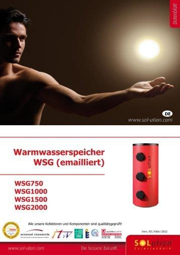 Warmwasserspeicher WSG (emailliert)