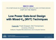 Low Power Gate-level Design with Mixed-V (MVT) Techniques