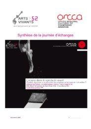 Synthèse Lemploi dans le spectacle vivant_v6.rtf - ORCCA
